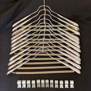 12 Heavy Chrome Coat Hangers SS United States Line